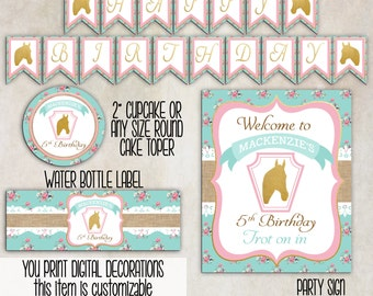 Southern Kentucky Derby Girls Birthday Party Decorations