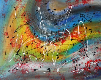 Painting Abstract picture  Free electrons