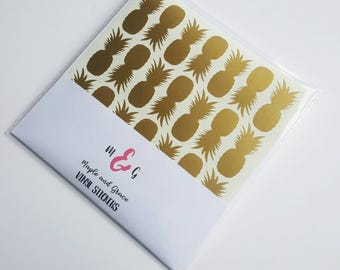 Pineapple stickers envelope seal vinyl sticker- vinyl decal - diy party - pineapple decor - favour stickers - craft stickers - invitations