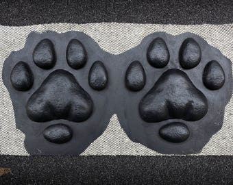 Fursuit silicone paw pads, big cat lion tiger in black