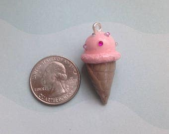 Ice Cream Cone Charm