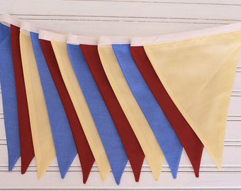 3m Primary Colours Double Sided Bunting
