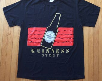 Guinness stout vintage shirt beer XL