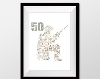 Hunting artwork, Hunting, Hunting present ideal for 50th, 60th or 70th birthday