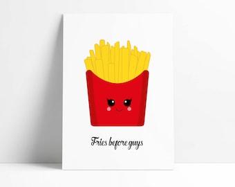Postcard Fries Before Guys