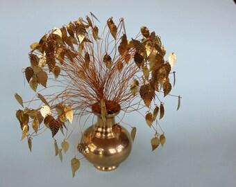 Vintage Gold leaf tree/vase