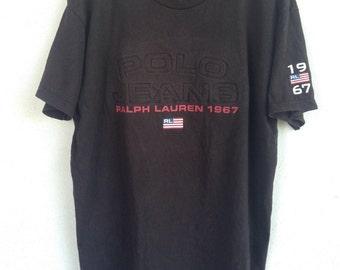 Rare Polo Jeans Ralph Lauren 1967 RL t shirt L