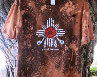Wildest Dreamer Ombre Bleached Distressed shirts S-XL dream catcher