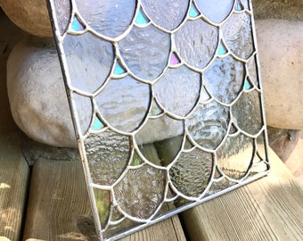 Handmade Mermaid/Fish Scales Stained glass