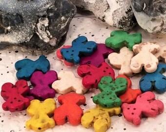 Multi-Color  Turquoise Winnie Loose Beads Strand Gemstone Pendant 20MM