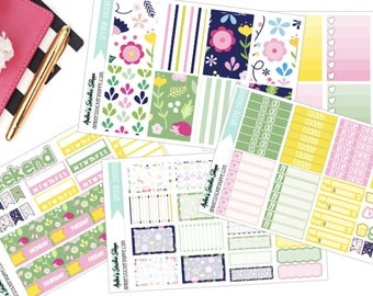 Spring Blooms Weekly Kit for Happy Planner Planner Stickers