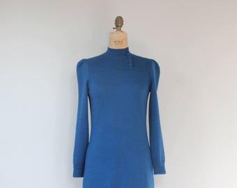 70s St. John high neck knit dress