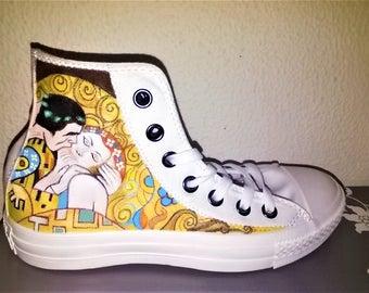 Original Converse shoes KLIMT-Handpainted Shoes