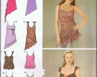 Design Your Own Asymmetric Spaghetti Strap Summer Top Simplicity 4750 New size Small  039363287650
