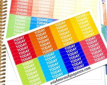 Today Headers - Today Header Stickers - Planner Stickers - Today Planner Stickers - Header Stickers - Header Stickers Kit