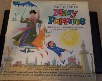 Disney Songs and the story of Mary Poppins Vintage Album