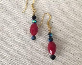 Elegant Red Earrings