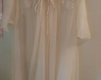 Pale Pink Sheer Robe