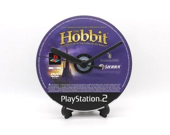 The Hobbit PlayStation 2 PS2 Upcycled CD Disc Clock Video Game Gift Idea