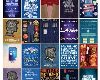 Doctor Who Planner Quote Set /Erin Condren Planner/ Me & My Big Ideas Planner/Scrapbooking