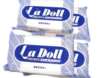Ladoll premix clay 4 packs *400 g(14oz). Self-dry clay best for doll