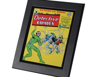 Batman and Robin DC Comics Framed Genuine Postcard The Riddler Superhero Frame, XS038