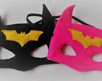 Felt Batman Super Hero Mask, kids gift, original, handmade, available in any colour!