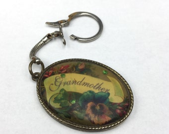 A Grandmother Gives Her Love and Wisdom. Key Chain. Grandmothers Gift