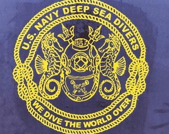 We Dive the World Over Vinyl Decal Sticker