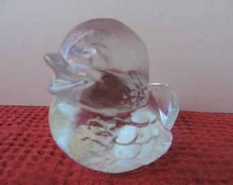 Goebel Crystal/ Glass Paperweight Bird Vintage