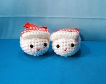 Made to Order - Crochet Amigurumi Ebi Shrimp Sushi