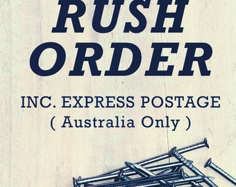 RUSH Order - Add on to your purchase