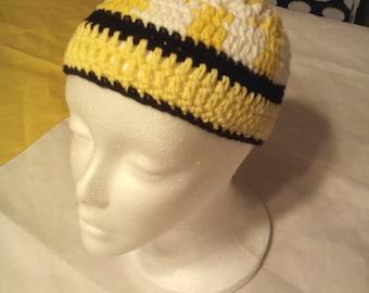 Beanie Yellow/ White/Black