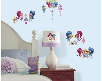Today only 10% off Shimmer and shine birthday/bedroom stick and peel wall decal decor