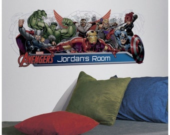 Avengers bedroom/birthday stick and peel wall decal decoration