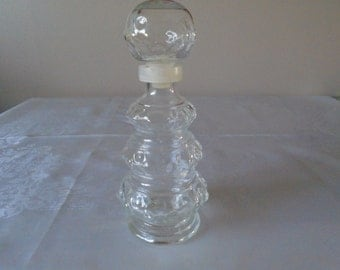 glass bubble patterned shaped decanter france