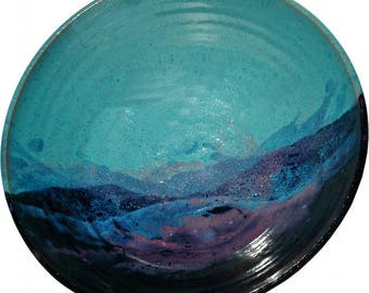 Salad Bowl in Mountain Waves Glaze