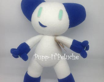 Robotboy of Plush inspired by the cartoon - white-blue