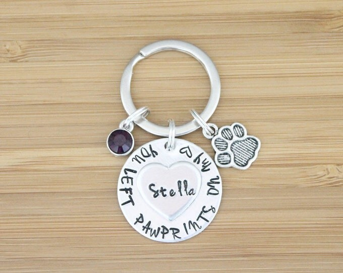 Featured listing image: hand stamped keychain | dog memorial