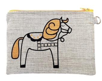 Scandinavian purse / pencil case, screen printed