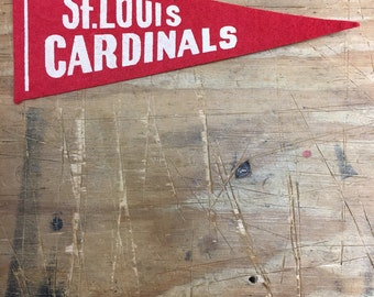 1950's Vintage St Louis Cardinals baseball Mini Pennant 2.5x6 inch Flag Banner