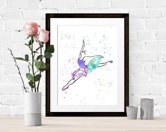 Watercolour Ballet Print 1 of 4