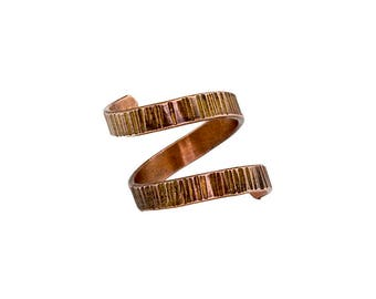 Textured Copper Wrap Around Ring