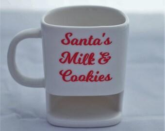Santa's milk & cookies Mug-Santa Mug-Personalized mug-cookie Mug-Juice Mug-Coffee Mug-Chocolate Milk Mug-Ceramic Mug-Tea Mug-Funny Mug