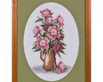 Cross Stitch Kit Bouquet of peonies