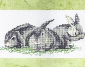 Cross Stitch Kit Bunnies