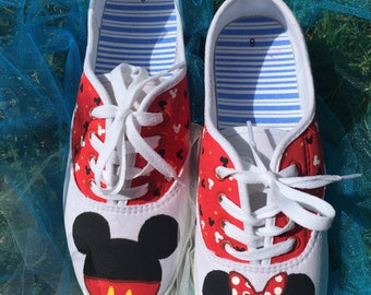 Mickey and Minnie Mouse shoes