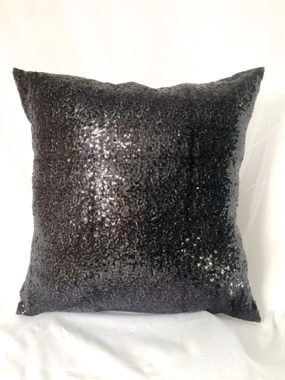 Black Glitz Throw Pillows Black Sequin Accent Pillows