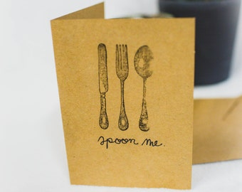 Spoon Me Handmade Card
