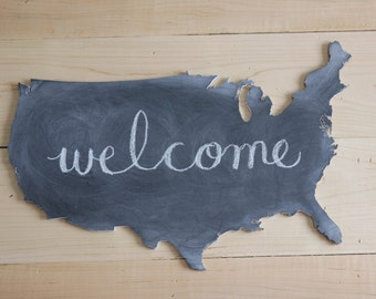 Chalkboard U.S.A Cutout